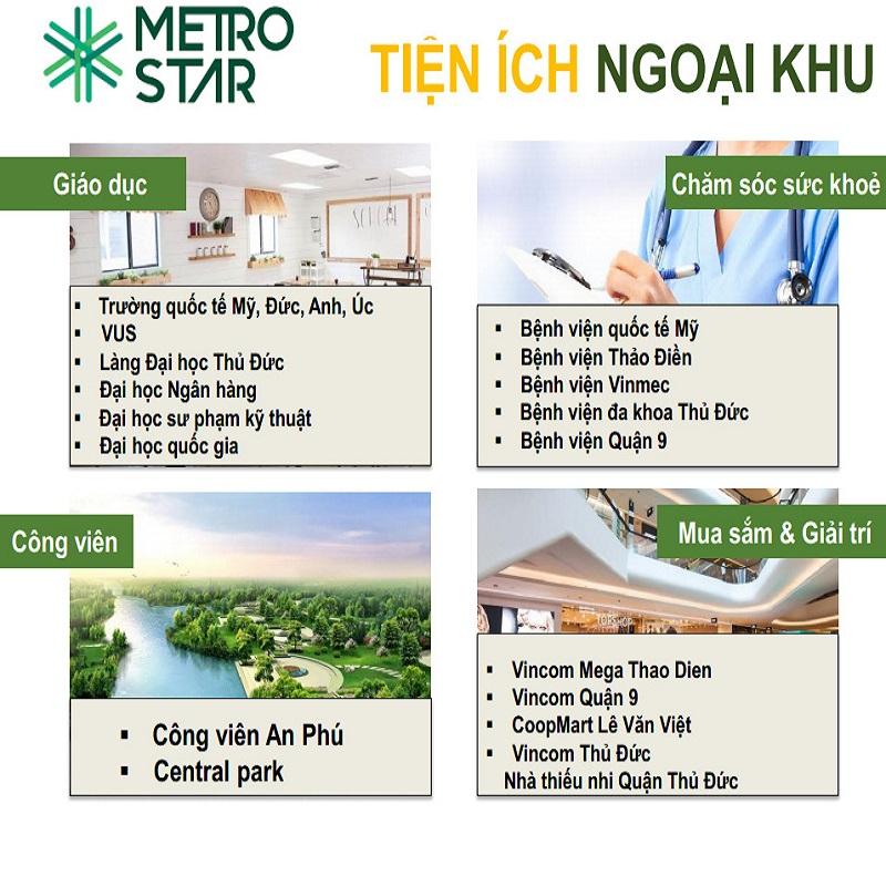 Tiện ích ngoại khu Dự án Metro Star Q9
