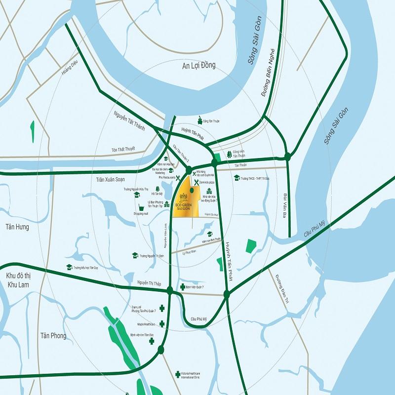 Tiện ích ngoại khu căn hộ Eco Green Sài Gòn có những gì?