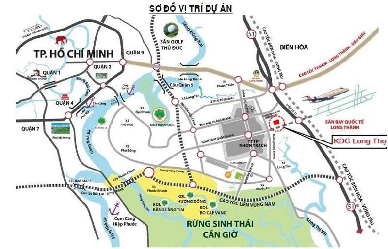 Vị trí khu dự án dân cư